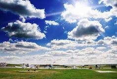 Aeródromo Imágenes de archivo libres de regalías