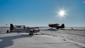 Aeródromo norte pequeno foto de stock