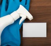 Aerógrafo con los guantes de goma Fotografía de archivo