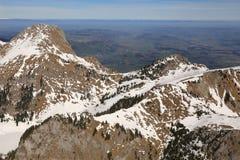 Aer dello svizzero della Svizzera della montagna delle montagne delle alpi di Stockhorn Laseberg Fotografia Stock Libera da Diritti