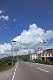 Aer Hulunbeier City, S203 Highway Hot Springs Road Royalty Free Stock Photo