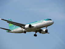 Aer Lingus Irish Airlines. Airbus a320 Aer Lingus Irish Airlines Approach at London Heathrow Airport stock image