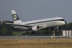 Aer Lingus, Retro livery doing taxi in Munich Airport, MUC, Germany. Aer Lingus Retro livery taxiing in Munich Airport, MUC, Germany stock images