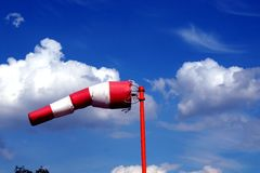 Aerômetro do indicador de direção do vento Foto de Stock