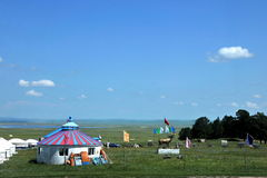 Aer yurt on the prairie Royalty Free Stock Photo