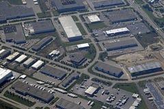 Aera industrial de Cambridge Ontario, aéreo Imagen de archivo libre de regalías
