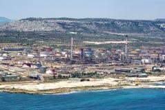 Aera industriel à Syracuse Sicile Photo stock