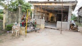 Aera tradicional pequeno de Pondicherry da Índia do templo Imagem de Stock