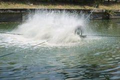 Aerador superficial de poca velocidad de Chaipattana Imagen de archivo
