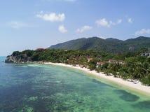 Aerail瓶海滩视图,酸值Phangan 免版税库存照片