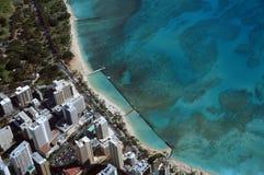 Aerail-Ansicht von Waikiki, Kapiolani-Park Lizenzfreie Stockfotografie