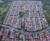 Aerail view of home village and real estate business in bangkok. Thailand royalty free stock images
