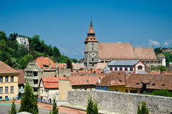 Aeral view of Brasov with the black church Royalty Free Stock Images