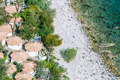Aeral view of sicilian beach Royalty Free Stock Images