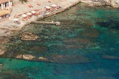 Aeral view of wonderful sicilian sea Royalty Free Stock Photo