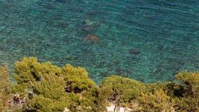 Aeral view of wonderful sicilian sea Stock Photo