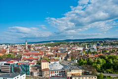 Aeralansicht über Klausenburg-Napoca, Rumänien Stockbild