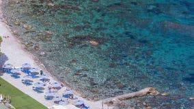 Aeralansicht des sizilianischen Strandes Lizenzfreie Stockbilder