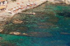 Aeralansicht von wunderbarem sizilianischem Meer Lizenzfreies Stockfoto