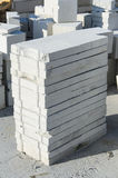 Aerated concrete blocks. Close up Stock Photography