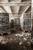 Aerated concrete blocks on pallets Stock Image