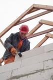 Aerated concrete masonry Royalty Free Stock Images