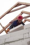 Aerated concrete masonry Stock Photo