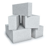 Aerated concrete wall blocks Royalty Free Stock Images