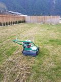 Aerating Lawn and Yard stock photo