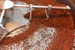 Aeration roasted coffee beans Royalty Free Stock Images
