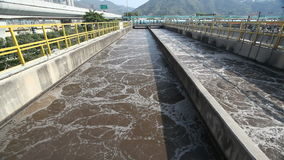 Aeration tank in a sewage treatment plant