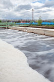 Aeration volumes for water in wastewater treatment plant Stock Image