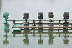 Aeratorturbinewaterbehandling Arkivbild