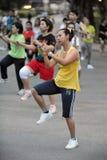 Aerbobics in einem Park in Bangkok Stockfotografie