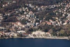 Aerea di Villa Olmo de Veduta Fotografía de archivo libre de regalías