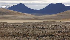 Aerea vulcânico de Herdubreid em Islândia Foto de Stock