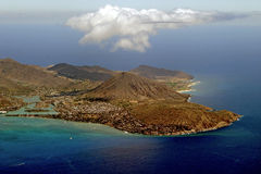 aereal夏威夷视图 库存图片