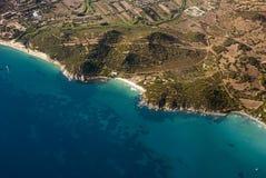 Aereal-Ansicht der Natur in Calamosca-Hügel in Cagliari, Sardegna, I Lizenzfreie Stockbilder