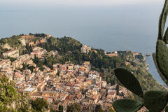 Aereal Ansicht Taormina Stockfotos