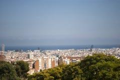 Aereal-Ansicht von Barcelona, Spanien Stockfotografie