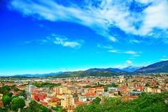 Aereal-Ansicht von Brescia-Stadt vom Schloss Lizenzfreies Stockbild