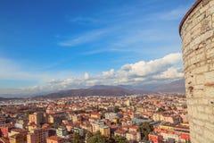 Aereal-Ansicht von Brescia-Stadt vom Schloss Stockfoto