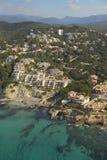 Aereal-Ansicht von Mallorca Küste. Stockfotografie