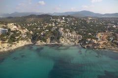 Aereal-Ansicht von Mallorca Küste. Lizenzfreie Stockbilder