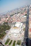 Aereal-Ansicht von Mexiko City und das Palacio von Bellas-artes Lizenzfreie Stockfotografie
