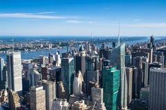 Aereal-Ansicht von New York City Lizenzfreies Stockfoto