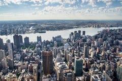 Aereal-Ansicht von New York City Lizenzfreie Stockfotos