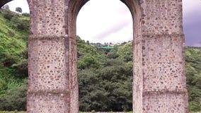 Aereal View Acueduct `arcos Del Sitio` Tepotzotlan, Estado De Mexico. Take 1 stock footage