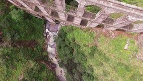 Aereal View Acueduct `arcos Del Sitio` Tepotzotlan, Estado De Mexico. Take 3 stock video footage