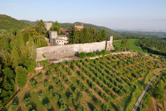 Aereal view castello Brolio Royalty Free Stock Photography
